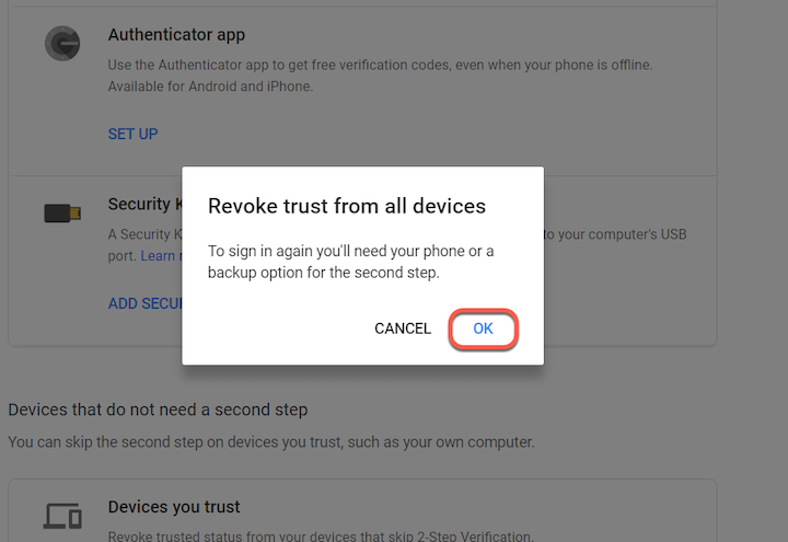 Remove Gmail Account from device