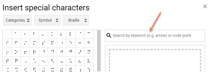 How to add Special Characters in Google Doc