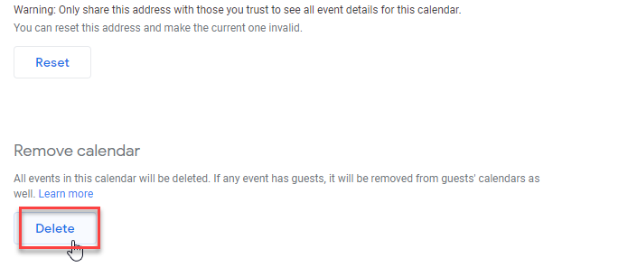 How to Delete a Google Calendar