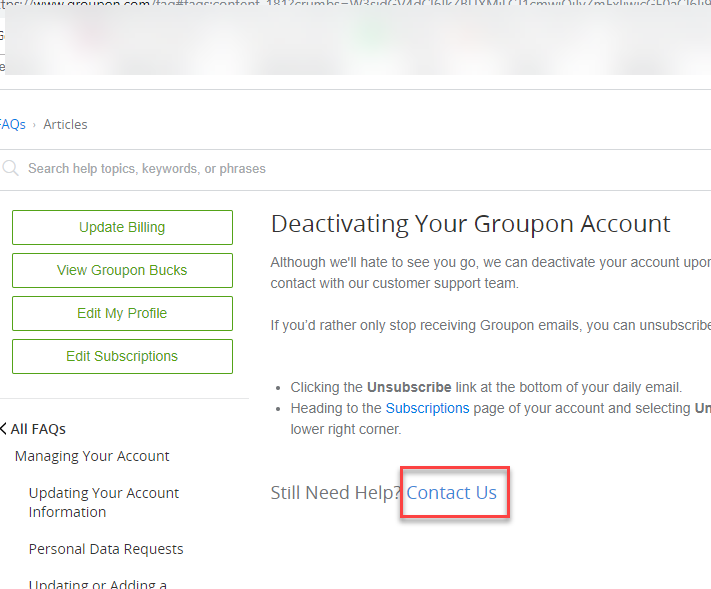 How to Delete Groupon Account