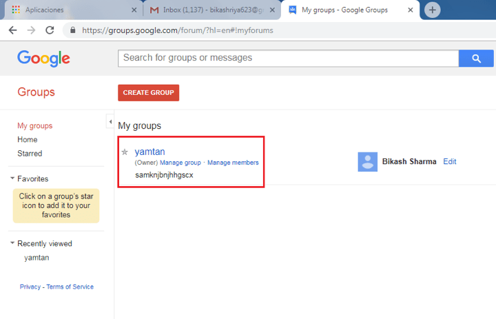 How to delete google groups