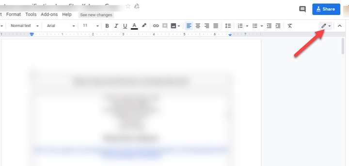 How to track changes in the google doc
