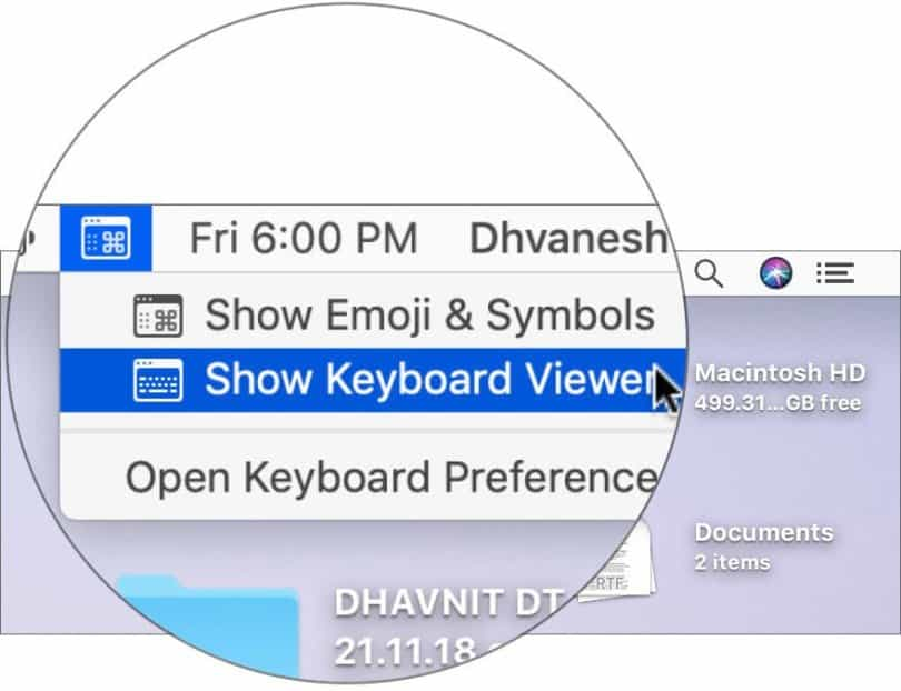 Show Keyboard Viewer