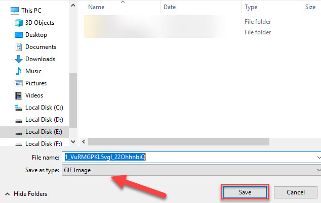 how to download a gif from any webiste