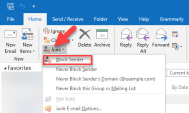 How to Block an Email Address in Outlook Mail