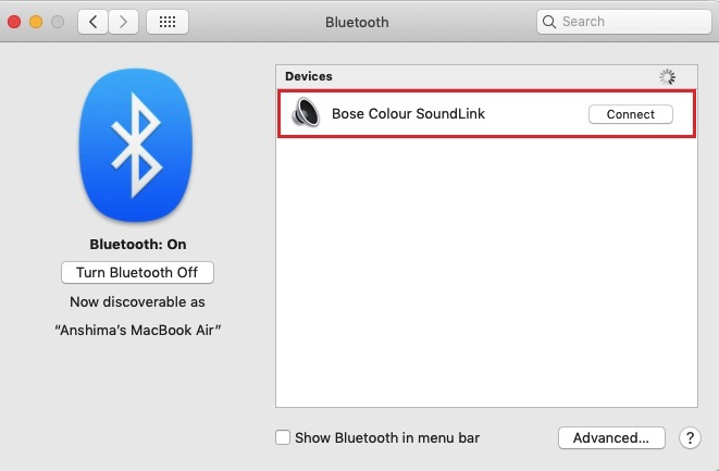 How to connect bose headphones to mac