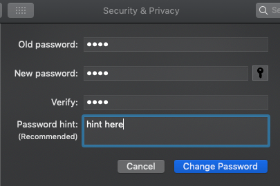 How to Change Password on Mac