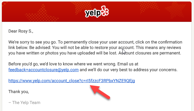 How to Remove Yelp Account