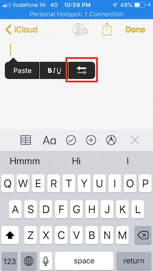 How to right-justify text on iPhone, iPad
