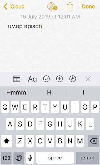 How to Write Upside Down on iPhone, iPad