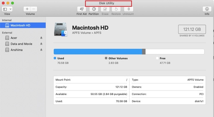 How to format external hard drive mac