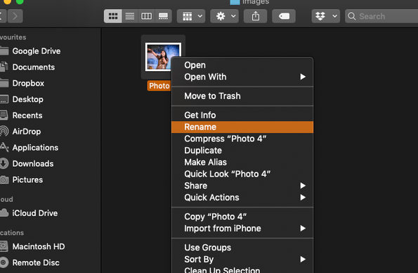 How to Rename a File On Mac
