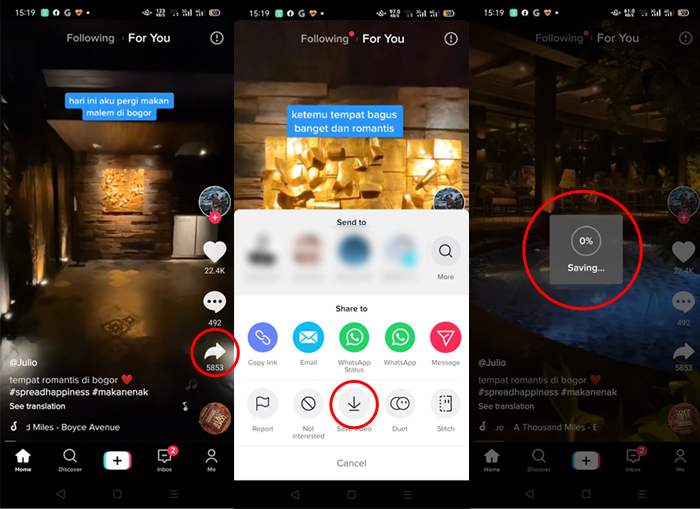 How to download TikTok videos directly from the application