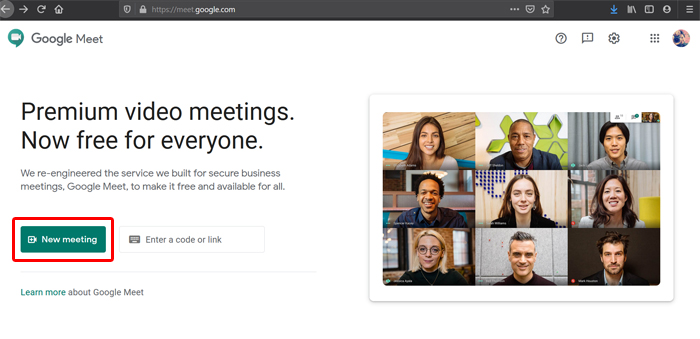Google Meet New Meeting
