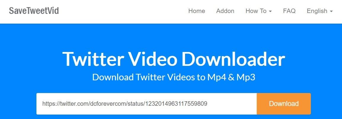 Download Twitter Videos with Twitter Video Downloader Online