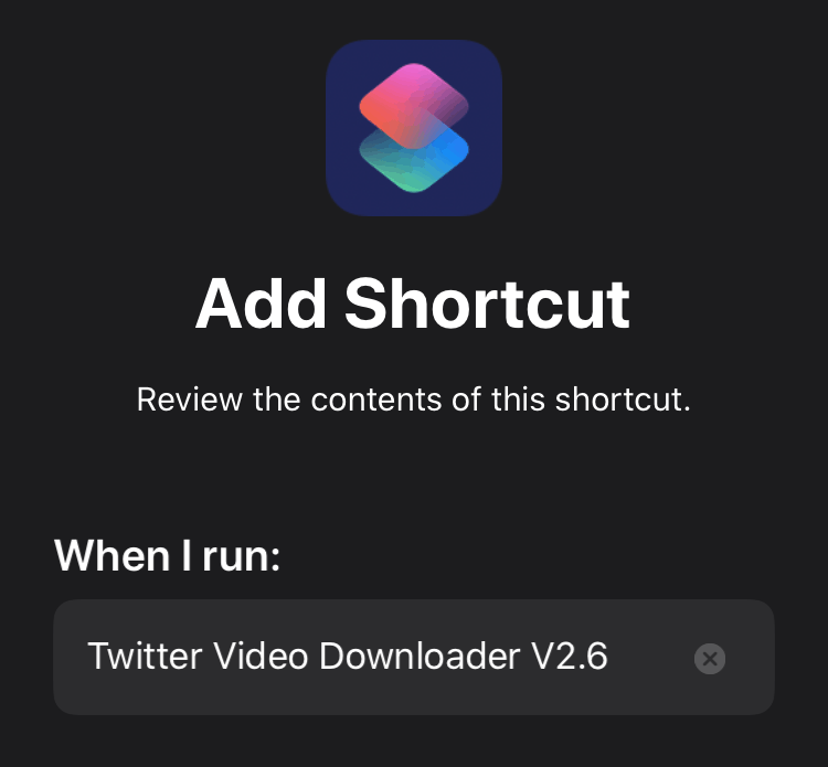 Add Twitter Video Downloader Shortcut on iPhone