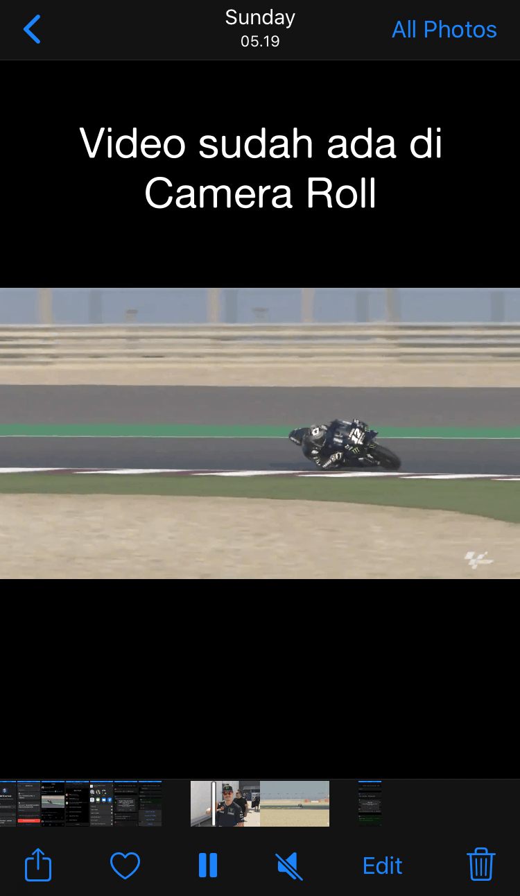 Video is already in Camera Roll or Photos