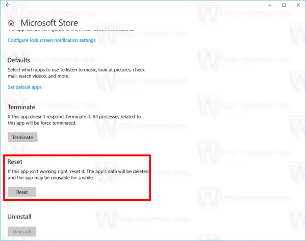 Reset Cache on the Microsoft Store