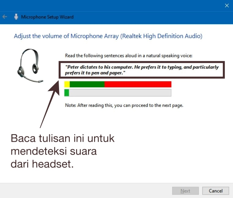 Read Posts to Detect Sound Through Headset Mic